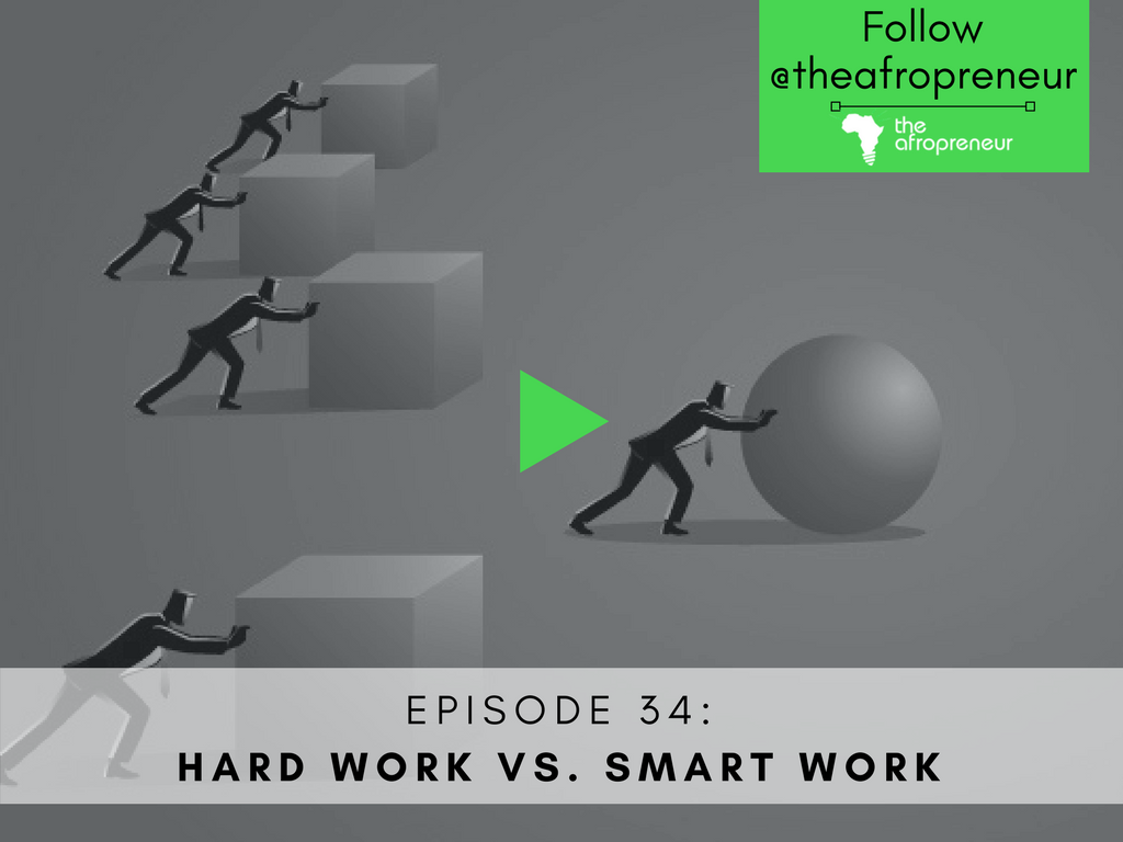Hard work smart work-Afropreneur POdcast Web
