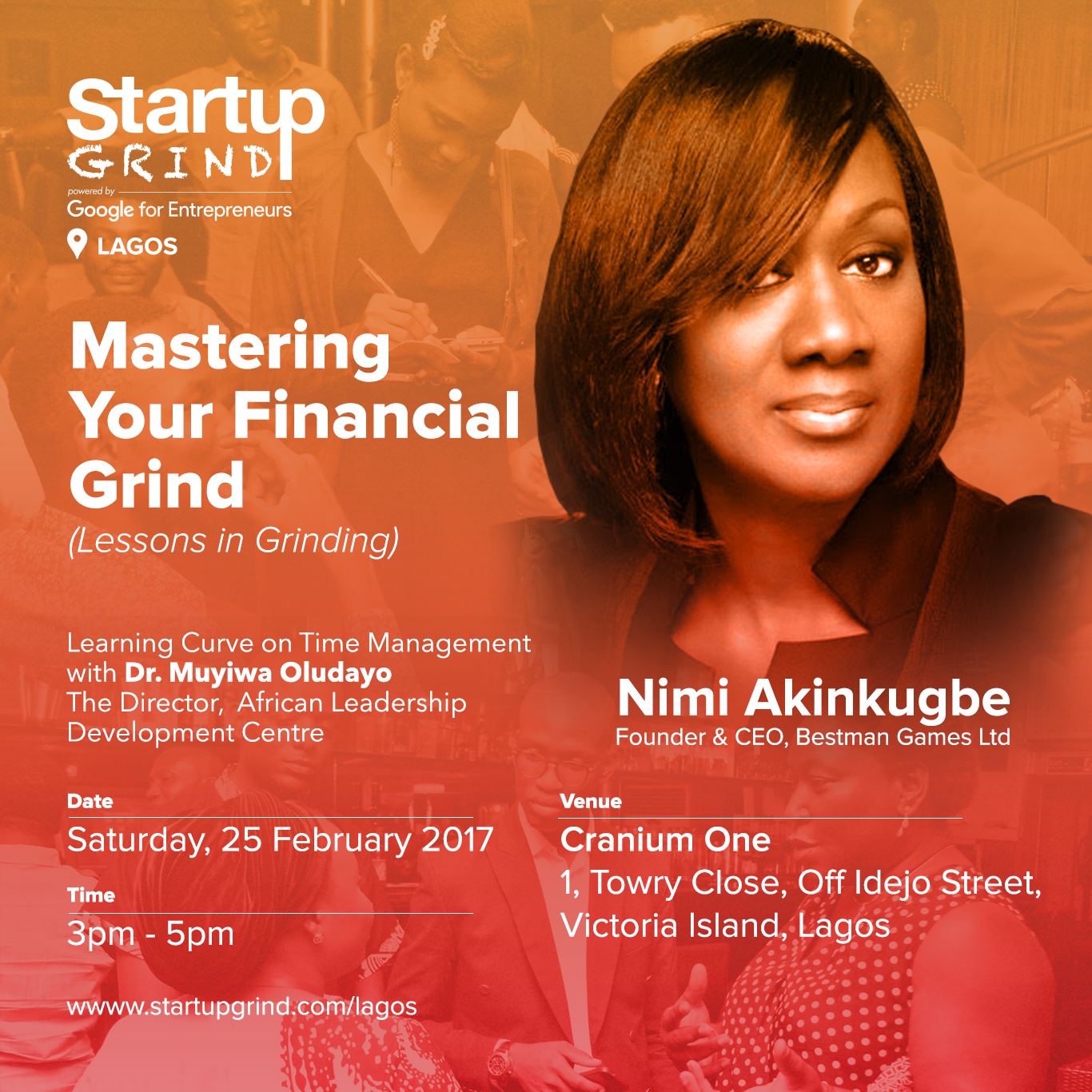 Our breakdown of Startup Grind Lagos' February Meetup with Nimi Akinkugbe and Muyiwa Oludayo