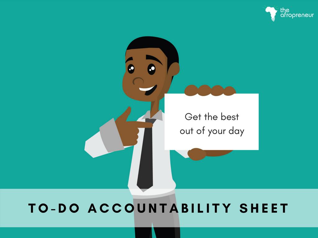 To-Do Accountability sheet